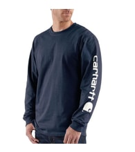 EK231NVY Long-Sleeve Graphic Logo T-Shirt