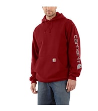 K288 608 Midweight Signature Sleave Logo Hooded Swearshirt