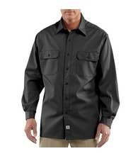 Košile carhartt - S224 BLK Twill Long-Sleeve Work Shirt
