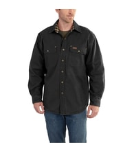 100590 Weathered Canvas Shirt Jac BLK