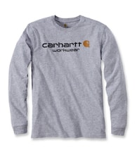 Carhartt triko -102564034 Core Logo  L-Sleve T-shirt Heather Grey