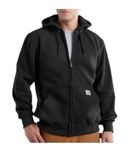 Mikina Paxton heavyweight Hooded Zip-Front  černá