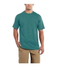 Carhartt triko -101124 Maddock S-Sleve T-shirt Alpine green heather
