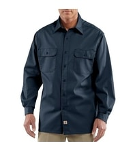 S224 NVY Twill Long-Sleeve Work Shirt