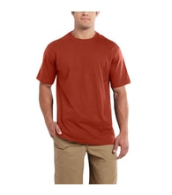 101124 Maddock S-Sleve T-shirt Chili Heather