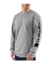 EK231HGY Long-Sleeve Graphic Logo T-Shirt