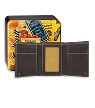 Trifold Wallet - Milled Pebble BLK
