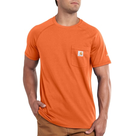 Carhartt triko - 100410 FORCE™ Cotton S-Sleeve T-Shirt  Orange