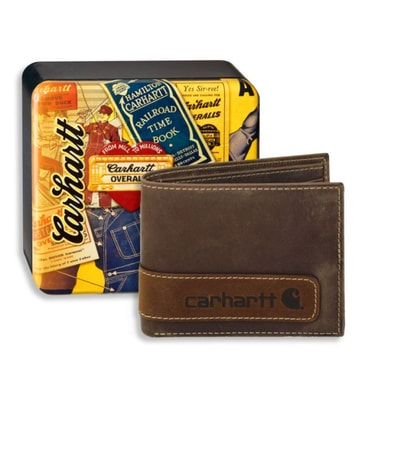 Two-Tone Billfold Wallet with Collectible Tin