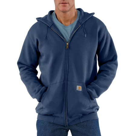 K122NVY Midweight Hooded Zip-Front Swearshirt