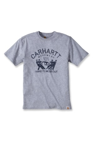 Carhartt triko -102097 Maddock Hard To Wear Out S-Sleve T-shirt Heather Grey