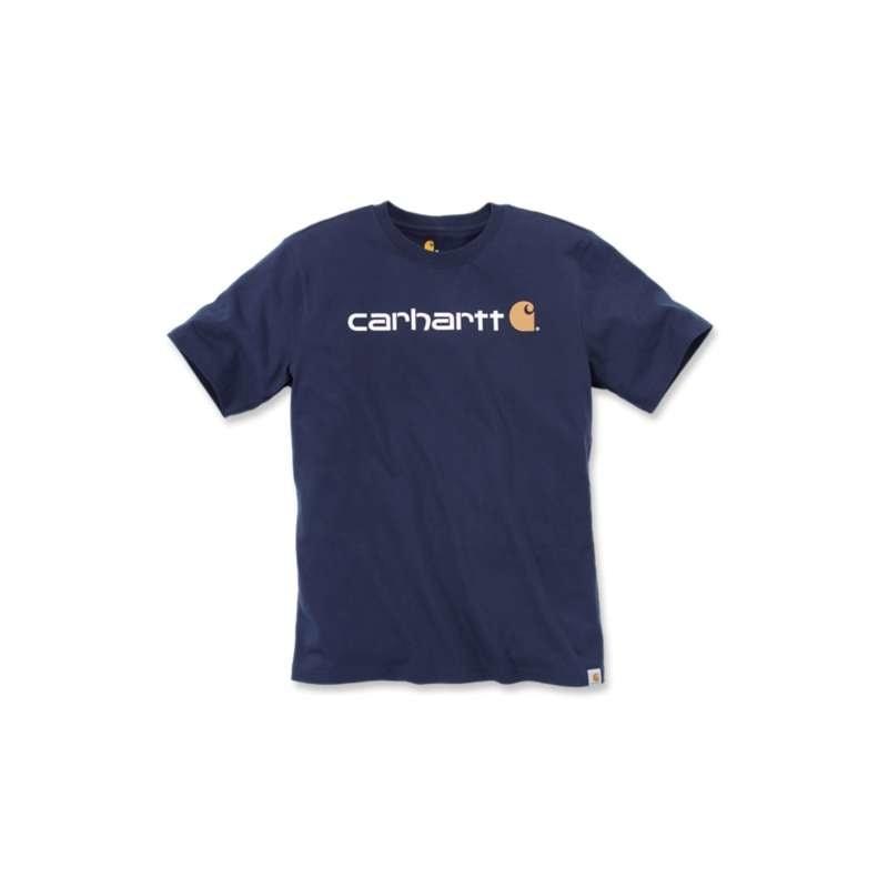 Carhartt triko -103361 Core Logo S-Sleve T-shirt Navy - Carhartt ... 7d5775916d