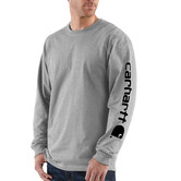 Carhartt triko - EK231HGY Long-Sleeve Graphic Logo T-Shirt