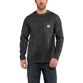 Carhartt triko - 100393 FORCE™ Cotton  L-Sleeve T-shirt Carbon heather
