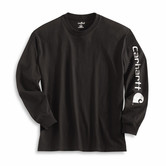 Carhartt triko - EK231BLK Long-Sleeve Graphic Logo T-Shirt