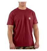 Carhartt triko - 100410 Men's FORCE™ Cotton S-Sleeve T-Shirt  Červené