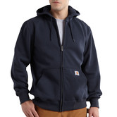 Mikina Carhartt - 100614NVY  Paxton heavyweight Hooded Zip-Front Swearshirt