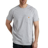 Carhartt triko - 100410 FORCE™ Cotton S-Sleeve T-Shirt  Heather Grey