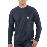 Carhartt triko - 100393 FORCE™ Cotton  L-Sleeve T-shirt Navy