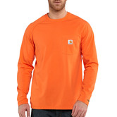 Carhartt triko - 100393 FORCE™ Cotton  L-Sleeve T-shirt Orange