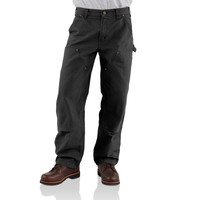 Kalhoty Carhartt - EB136BLK Double Front Work Pant