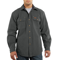 Košile carhartt - 100590 Weathered Canvas Shirt Jac GVL
