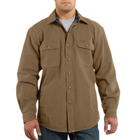 Košile carhartt - 100590 Weathered Canvas Shirt Jac FRB