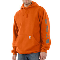 Mikina Carhartt - K288ORG Midweight Signature Sleave Logo Hooded Swearshirt