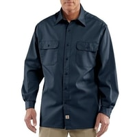 Košile carhartt - S224 NVY Twill Long-Sleeve Work Shirt