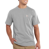 Carhartt triko -101125 Maddock Pocket S-Sleve T-shirt Heather grey