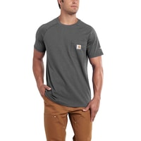 Carhartt triko - 100410 Men's FORCE™ Cotton S-Sleeve T-Shirt Carbon Heather