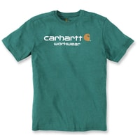 Carhartt triko -101214 Core Logo  S-Sleve T-shirt Alpine green heather