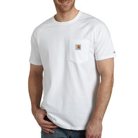 Carhartt triko - 100410 FORCE™ Cotton S-Sleeve T-Shirt  White