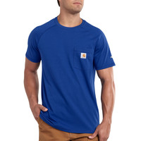 Carhartt triko - 100410 Men's FORCE™ Cotton S-Sleeve T-Shirt Nautical Blue